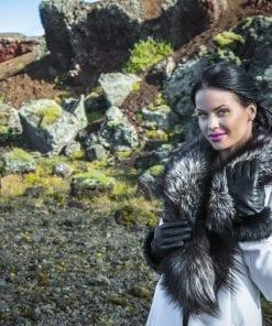 Íslenska línan í leðurhönskum fyrir dömuna